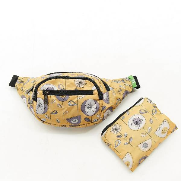 H09 Mustard 1950's Flower Bum Bagx2