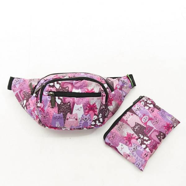 H10 Purple Stacking Cats Bum Bag x2