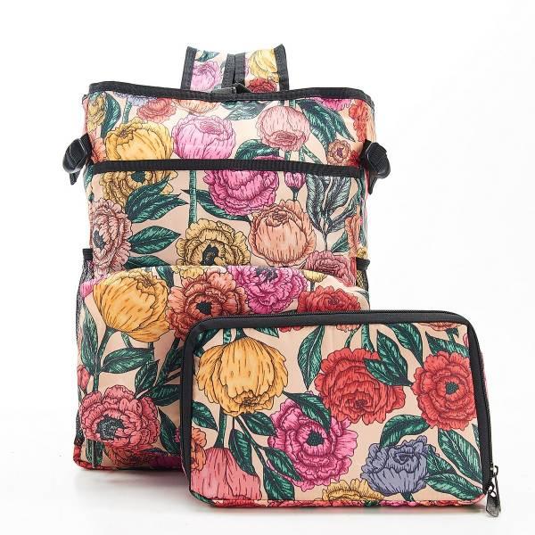 J03 Beige Peonies Cool Backpack