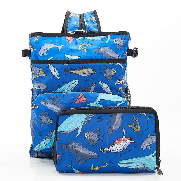 J04 Blue Sea Creatures Cool Backpack