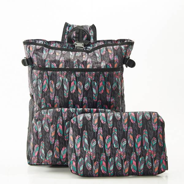 J08 Black Feather Cool Backpack