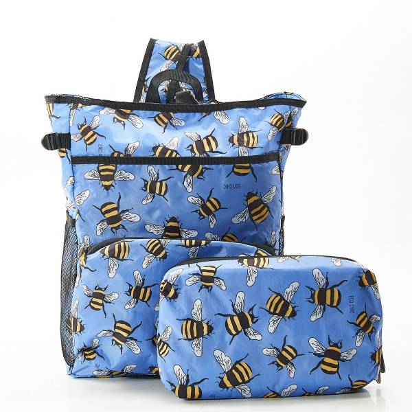 J10 Blue Bees Cool Backpack