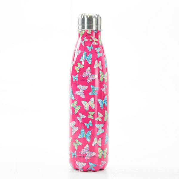 T04 Fuchsia Butterfly Thermal Bottle