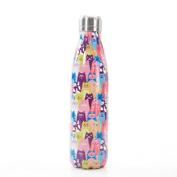 T05 Multiple Stacking Cats Thermal Bottle