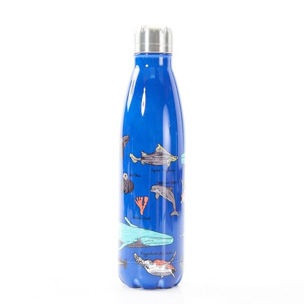 T06 Blue Sea Creatures Thermal Bottle