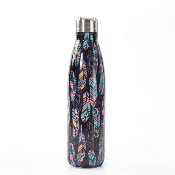 T07 Black Feather Thermal Bottle
