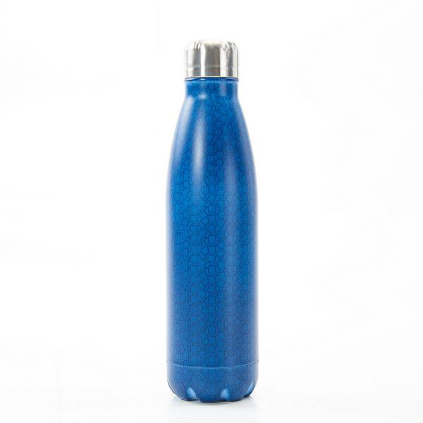 T08 Navy Disrupted Cubes Thermal Bottle